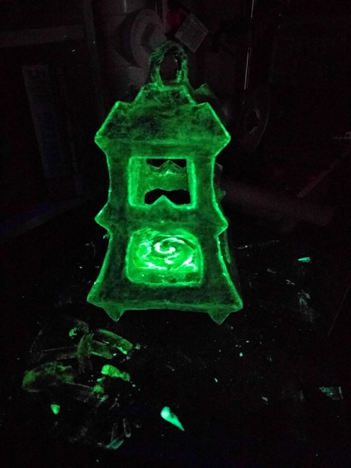 Good lord this thing glows like a nightlight